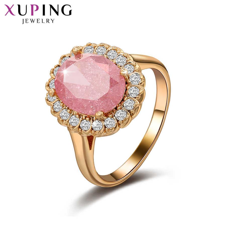 Xuping Mode Ring Mit Umwelt Kupfer Rosa Eis Stein Schmuck für Frauen Valentinstag Geschenke S232-15076