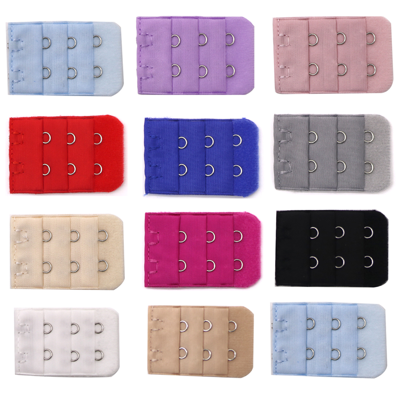 3/4/5pcs Women Intimates Accessories Bra Strap Extender 2/3 Hooks Clasp Strap Underwear Sewing Tools Adjustable Bra Extenders