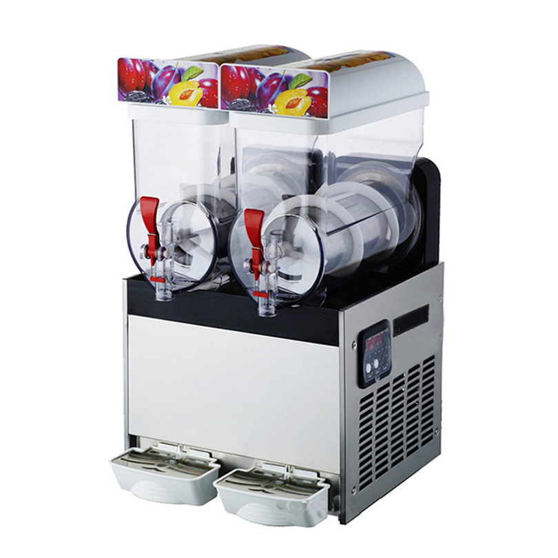 Commercial Slush Machine 3-tank Ice Drink Blender Large Capacity Smoothie Maker