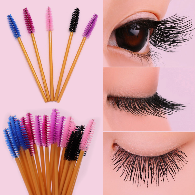 GJlash 50/100 Pcs Eyelash Extension Disposable Eyebrow Brush  Mascara Wands Applicator Eye Lashes Cosmetic Makeup Tools
