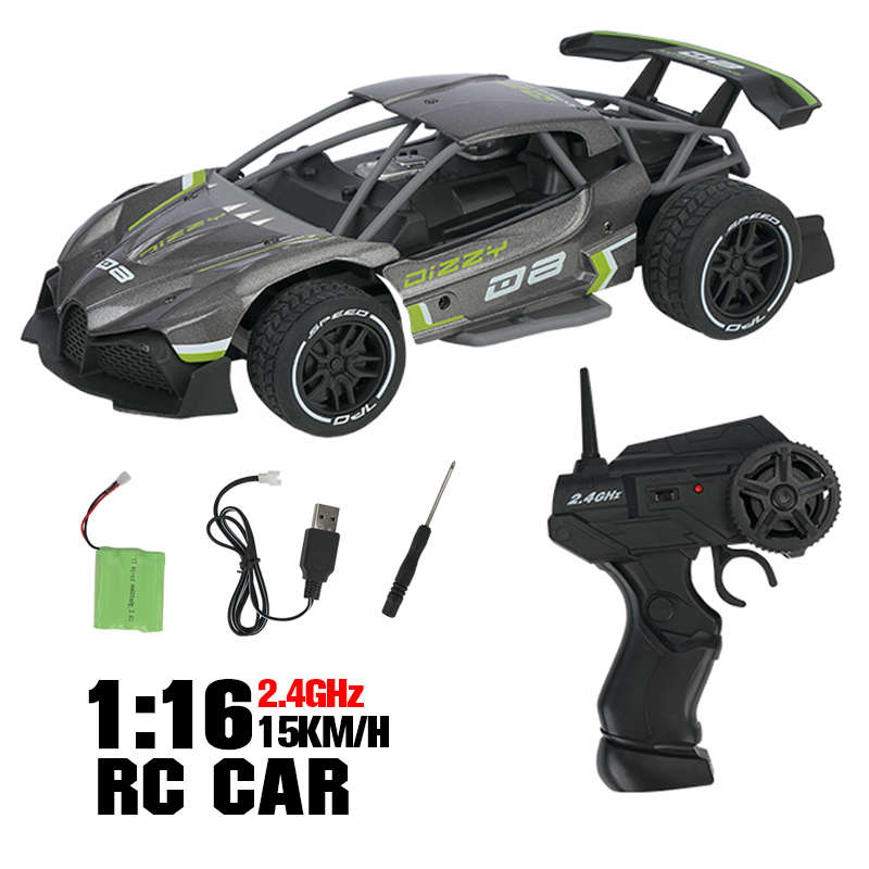 RC Car SL200A 1:16 15km/h 4WD 360 Degree Driving Alloy Crawler Radio Controlled Race Drift Vehicle Model Car Toys For Children