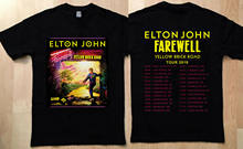 Limitée Elton John Shirt Tour 2019 adieu jaune brique billet de route affiche(China)