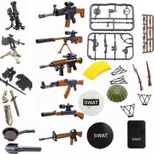 Legoing Militaire Armen Sets Kar98k Litteken AWM Rifle explosieveilige shield Model Blokken Militaire Legoings Educatief Speelgoed Kinderen(China)