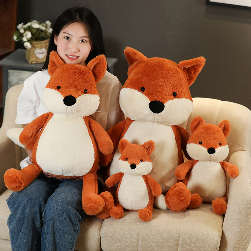 35-90cm Kawaii Fox Doll Stuffed Animal Plush Toys for Children Girl Boy Kids Cute Dox Gift Soft Cartoon Christmas Presents