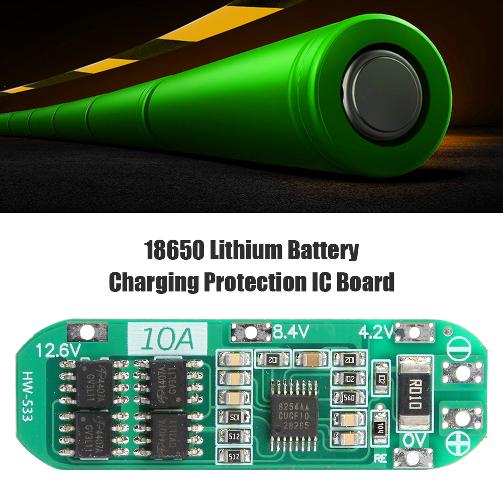 3S 10A 11.1V 12V 12.6V Li-ion Lithium Battery 18650 Charger Protection Board PCB BMS 12.6V Cell Charging Protecting Module