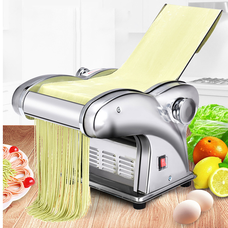 Pressing Flour Machine Home Electric Noodle Automatic Pasta Machine Stainless Steel Noodle Cutting Dumpling Skin Machine