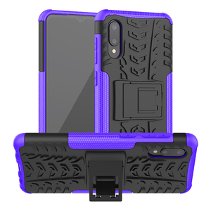 Image 2 - 50pcs/lot 2 in 1 hybrid pc tpu hard case For Samsung S21 S21Ultra S21PLUS A72 A52 A32 4G 5G A02S A12 Rugged Shockproof