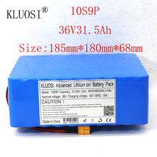 цена на KLUOSI 36V Battery 10S9P 31.5Ah for NCR18650GA with 35A Balance BMS 42V Li-Ion Battery Pack Ebike Electric Bicycle Motor Scooter