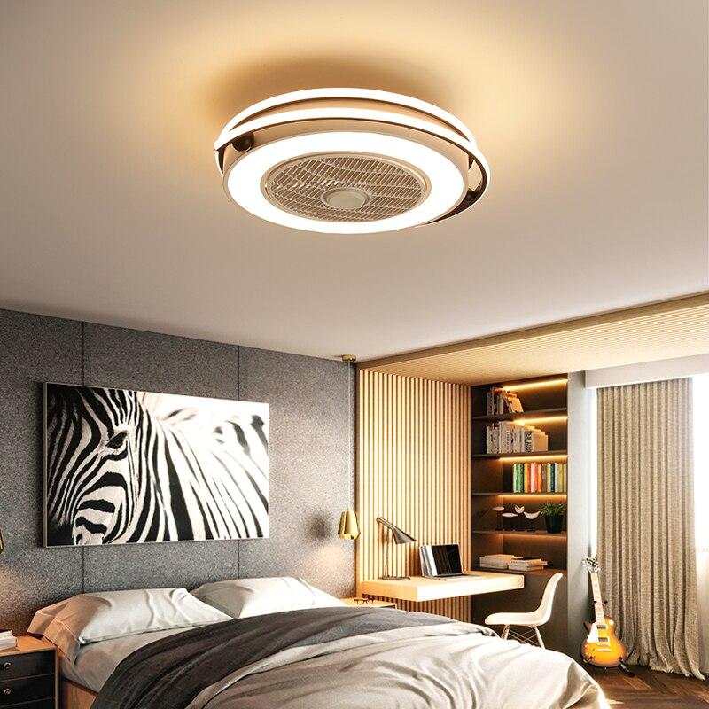 FENGTING Unsichtbare Fan-Licht LED-Wohnzimmer Esszimmer Schlafzimmer Deckenventilator Licht Moderne einfache Haushaltsdecken Chand elier Silber d/ünne Art Size : 93 * 38cm Gr/ö/ße: 93 * 38cm