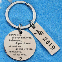 2019/2020 Keychain Stainless Steel Inspirational Positive Energy Graduation Gift Ceremony