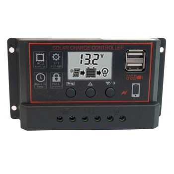 10A/20A/30A 4-Stage PWM Solar Charge Controller with LCD Display for Solar Battery Charging