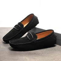 Loafers Men Fashion Suede Shoes Genuine Leather Slip-on Shoes Moccasins Soft Sole Driving Shoes Men Breathable Plus Size 38-49 1