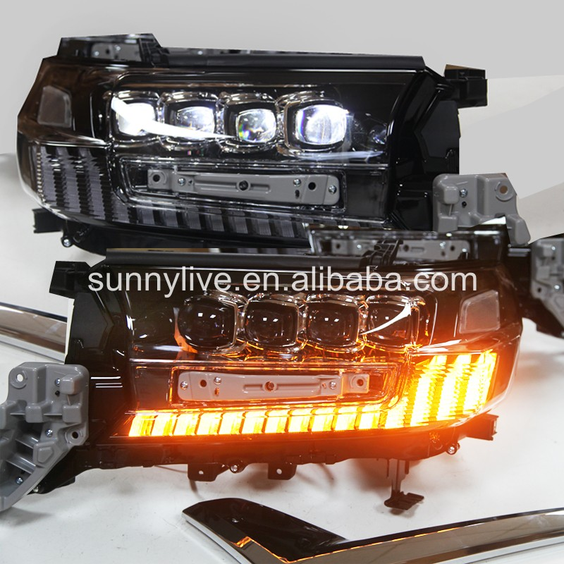Full Led Headlight For 2016-2019 Year Land Cruiser LC200 FJ200 LED Head Lights LDV2