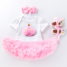 Baby Suit Dresses Outfit Birthday Girls First for Gown 1-Year