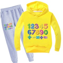 цена на 2020 Child cotton Tracksuit Autumn Sets Children Boys Girls Clothes Kids Hooded Tops Pants 2 piece Suits Spring winter Sets