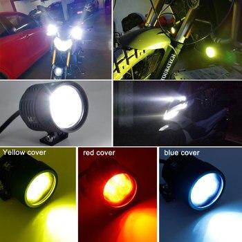 Spot Led Extérieur   1 Pièces Moto LED Extérieur Externe Feux De Route Spot 6500K Lampe Frontale Universelle Pour Honda Yamaha Cruiser Scooter ATV Marine