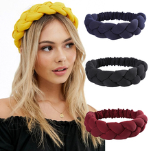 Haimeikang Twist Headbands for Women Autumn Stereo Hairbands Solid Color Head Bands 2020 New Fashion Girls Hair Accessories