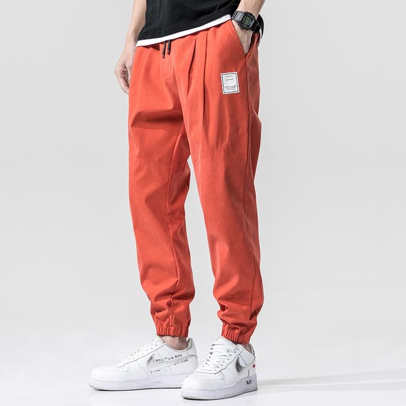 Свободные повседневные и универсальные штаны шаровары, спортивные мужские штаны с корсетом, модные штаны на весну и осень|Повседневные брюки| | АлиЭкспресс