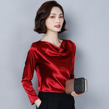 Korean Fashion Silk Women Blouses Satin Autumn White Women Shirts Plus Size XXXL Womens Tops and Blusas Femininas Elegante