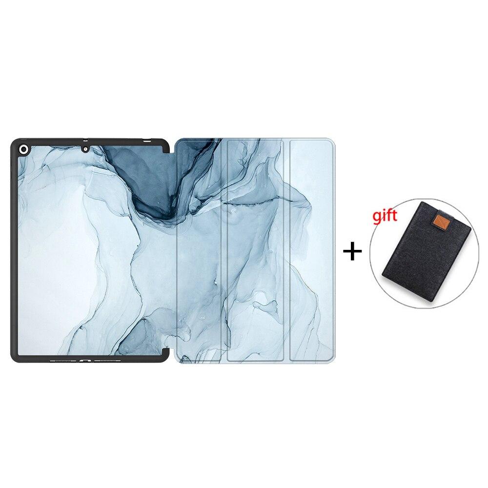 IPTPU12 Orange MTT Soft TPU Back Case For iPad 10 2 inch 7th 8th Gen Marble PU Leather