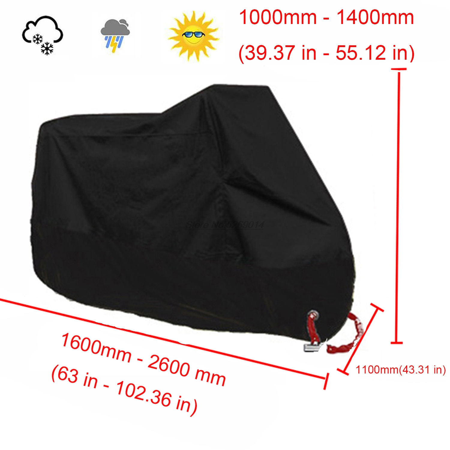 Motorcycle covers UV anti for benelli trk 502 accessories gsxr600 gsxr k5 <font><b>honda</b></font> cb 500f <font><b>honda</b></font> <font><b>nc</b></font> <font><b>700</b></font> fork guard harley 48 KTM image