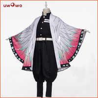 Prévente Uwowo démon tueur: Kimetsu no Yaiba Shinobu Kocho Cosplay Costume démon tuer Corps uniforme homme costume