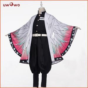 Image 1 - Uwowo Demon Slayer: Kimetsu no Yaiba Shinobu Kocho Cosplay Costume Demon Slaying Corps Uniform Man costume