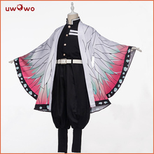 Uwowo קוטלת שד: Kimetsu לא Yaiba Shinobu Kocho קוספליי תלבושות שד להמית חיל אחיד איש תלבושות