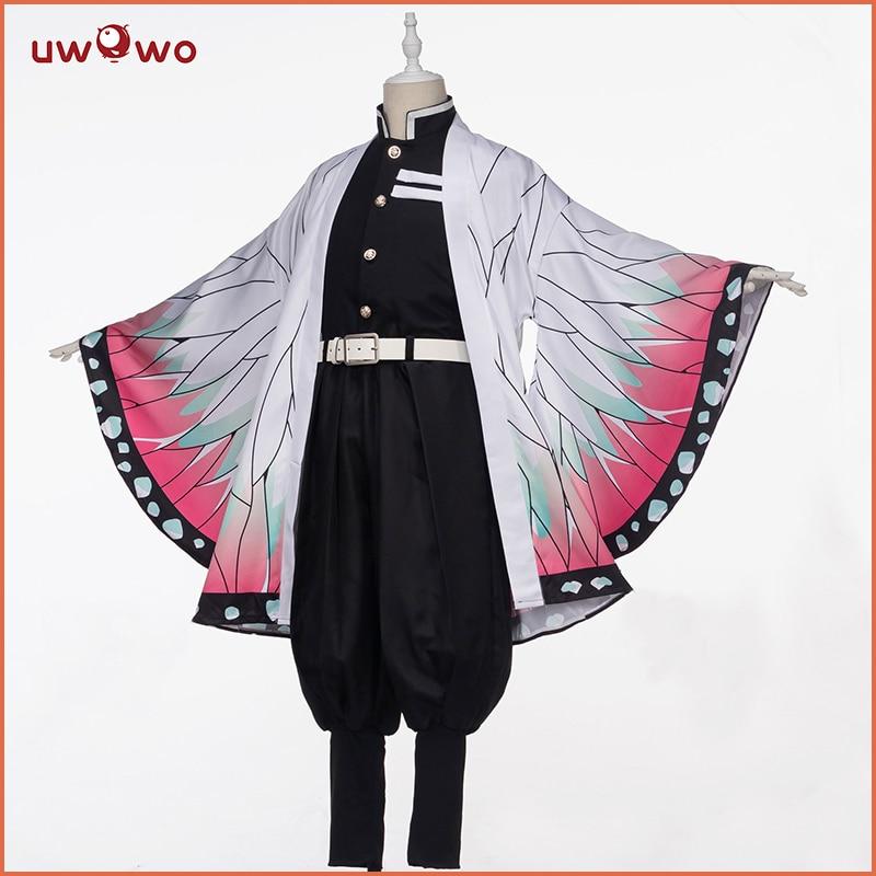 Pre-sale Uwowo Demon Slayer: Kimetsu No Yaiba Shinobu Kocho Cosplay Costume Demon Slaying Corps Uniform Man Costume