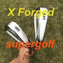 Venda quente ferros de golfe x forjado conjunto de ferros (3 4 5 6 7 8 9 p) com ouro dinâmico s300 aço eixo clubes de golfe