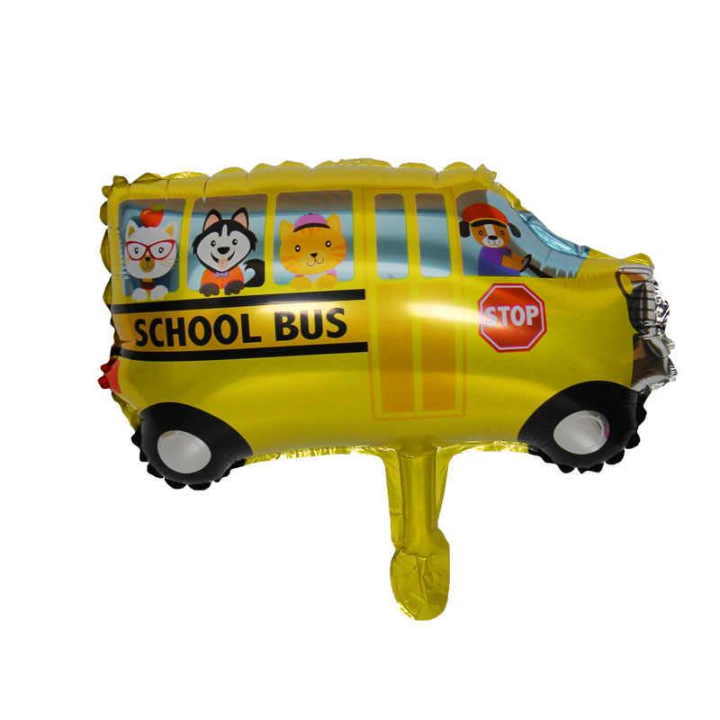 Ô Tô Mini Viền Nhôm Bóng Xe Cứu Hỏa Xe Cứu Thương Xe Tăng Nữ Bóng Đồ Chơi Trẻ Em Trang Trí Sinh Nhật Bóng Bay