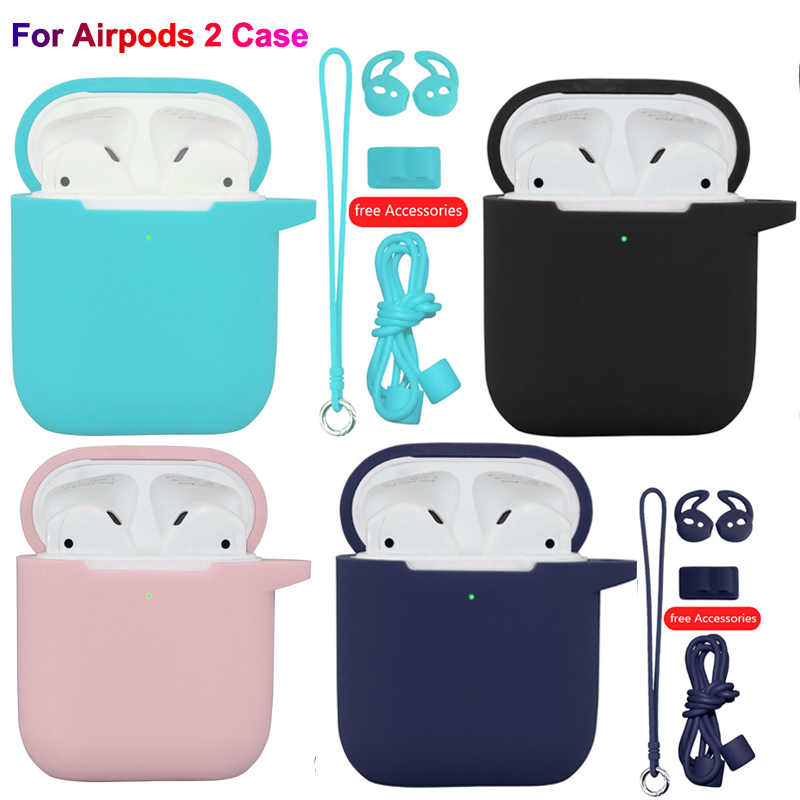 6pcs For Apple Airpods 2 Case Soft Silicone Earphone Protective Cover Air pods