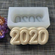 PRZY New Year mold silicone DIY 2020 digital for soap making resin clay moulds