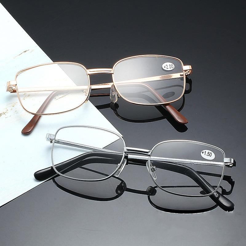 Metal Reading Glasses Resin Fashion Square Frame Diopter Presbyopia Men Women Alloy Droppshiping Freeshipping Gafas 200 250 150