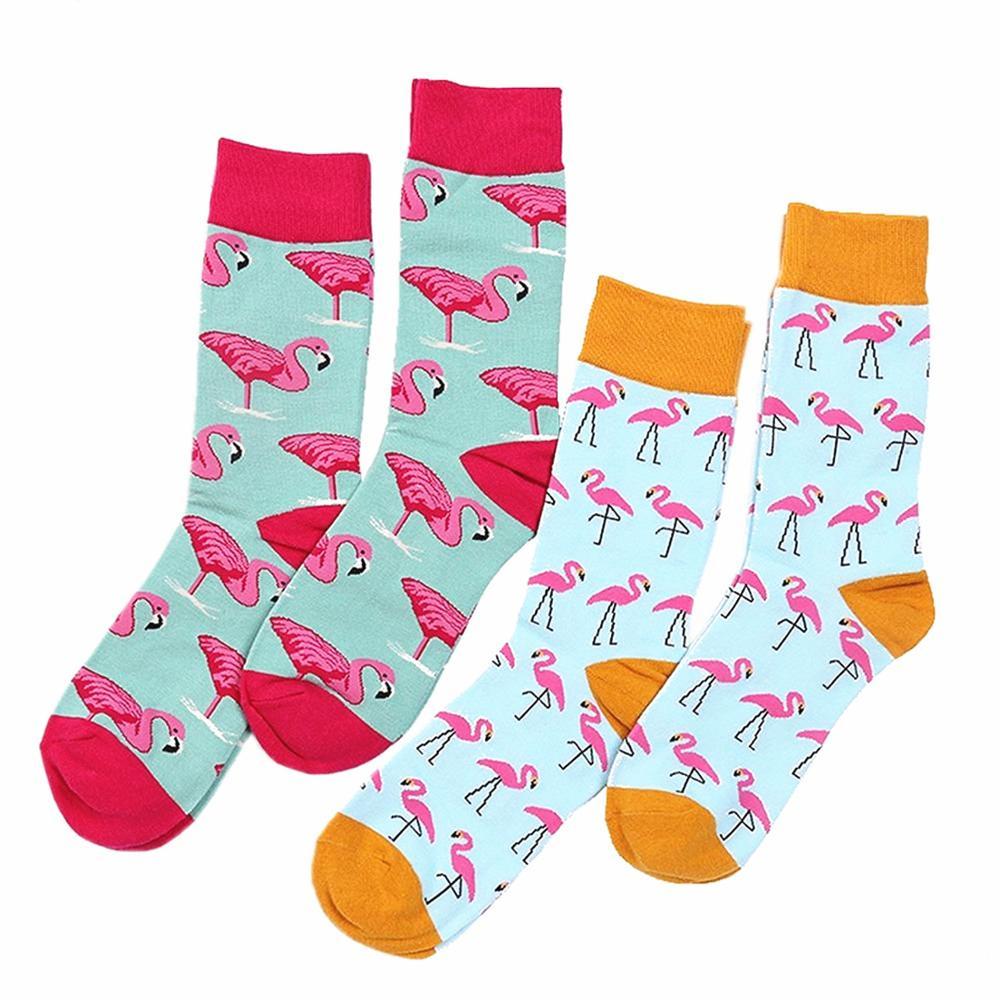 Flamingo Pattern Cute Socks Fashion Style Tube Socks European And American New Couple Socks Wholesale