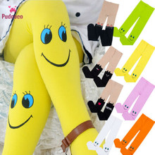 Pudcoco Fall Winter Cute Smile Face Kids Stockings Baby Girl Clothes Stocking Dancing Children Girls Tights Trousers Pantyhose(China)
