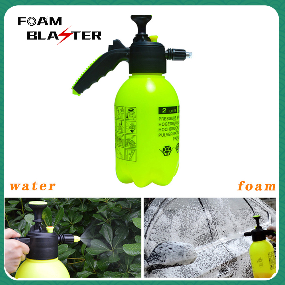Hand Operated Pump Foam Sprayer Hand Pressurized Foam Water Sprayer Manual Foam Cannon Snow Foam Lance Nozzle Car Foam Wash