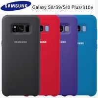 Samsung S8 Custodia Originale Molle Del Silicone Della Copertura Posteriore di Samsung Galaxy S8 S9 S10 Ufficiale Più S10e Nota 8 Caso di 9 coperchio di protezione
