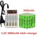 100% новый бренд 3000 мАч 1,5 в AAA щелочная батарея AAA перезаряжаемая батарея для дистанционного управления игрушка Batery дымовая сигнализация с за...