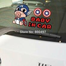 Новейший Капитан Америка ребенок в машине наклейки на авто аксессуары для автомобильных наклеек для Tesla Toyota Chevrolet Volkswagen Hyundai Kia Lada