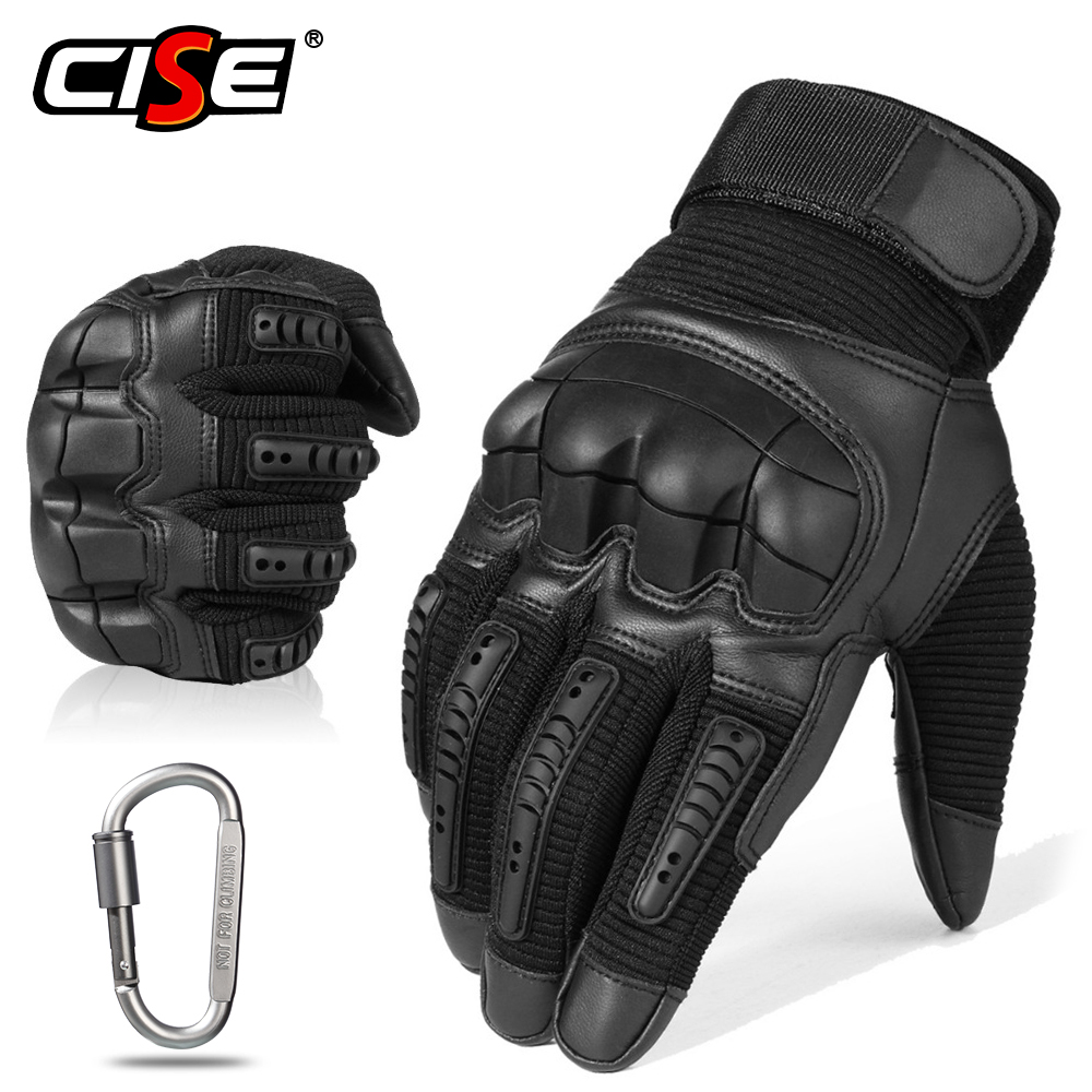 Touch Screen Leather Motorcycle Gloves Motocross Tactical Gear Moto Motorbike Biker Racing Hard Knuckle Full Finger Glove Mens-in Gloves from Automobiles & Motorcycles