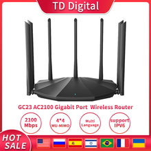 GC23 AC2100 WIFI Router Dual-Dand Wireless Gigabit Repeater 7*6BI High Gain Antennas WiFi Repeater With IPTV Plug And Play