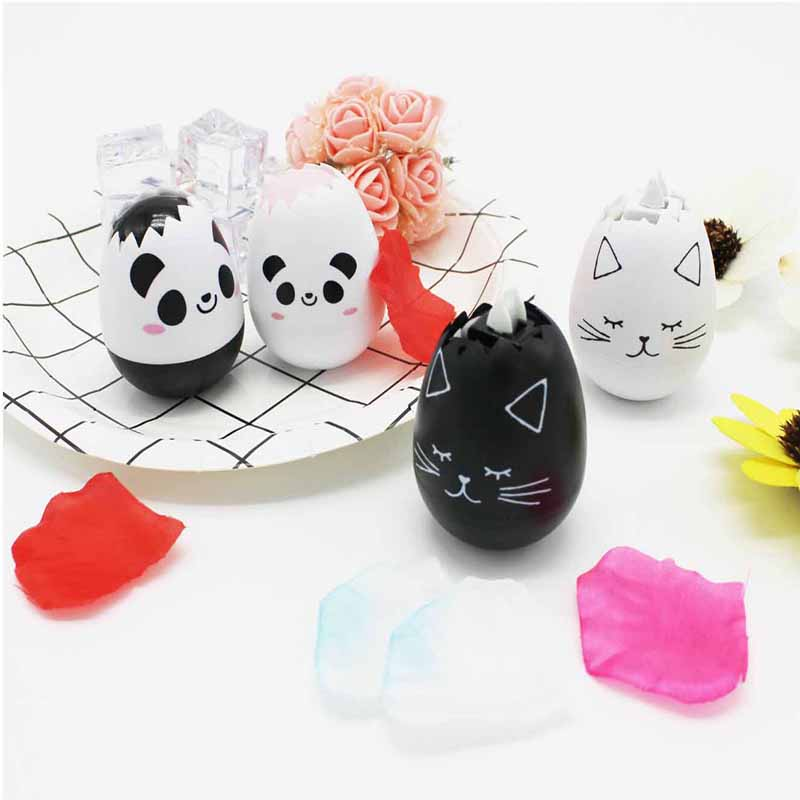 Penlab Stationery Creative Cartoon Egg Correction Tape Panda Cat Egg Correction Tape