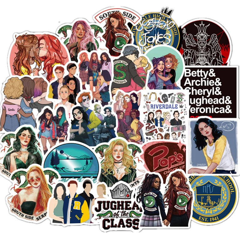 50pcs Personalized Stickers Of Riverdale TV Series Graffiti Laptop Cars Guitar Sticks Boxes And Cars