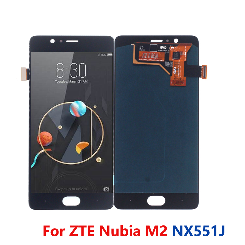 For M2 Display Amoled Touch Screen LCD Display Digitizer Assembly Touch Screen LCD Display For ZTE M2 NX551J Display Replacement(China)