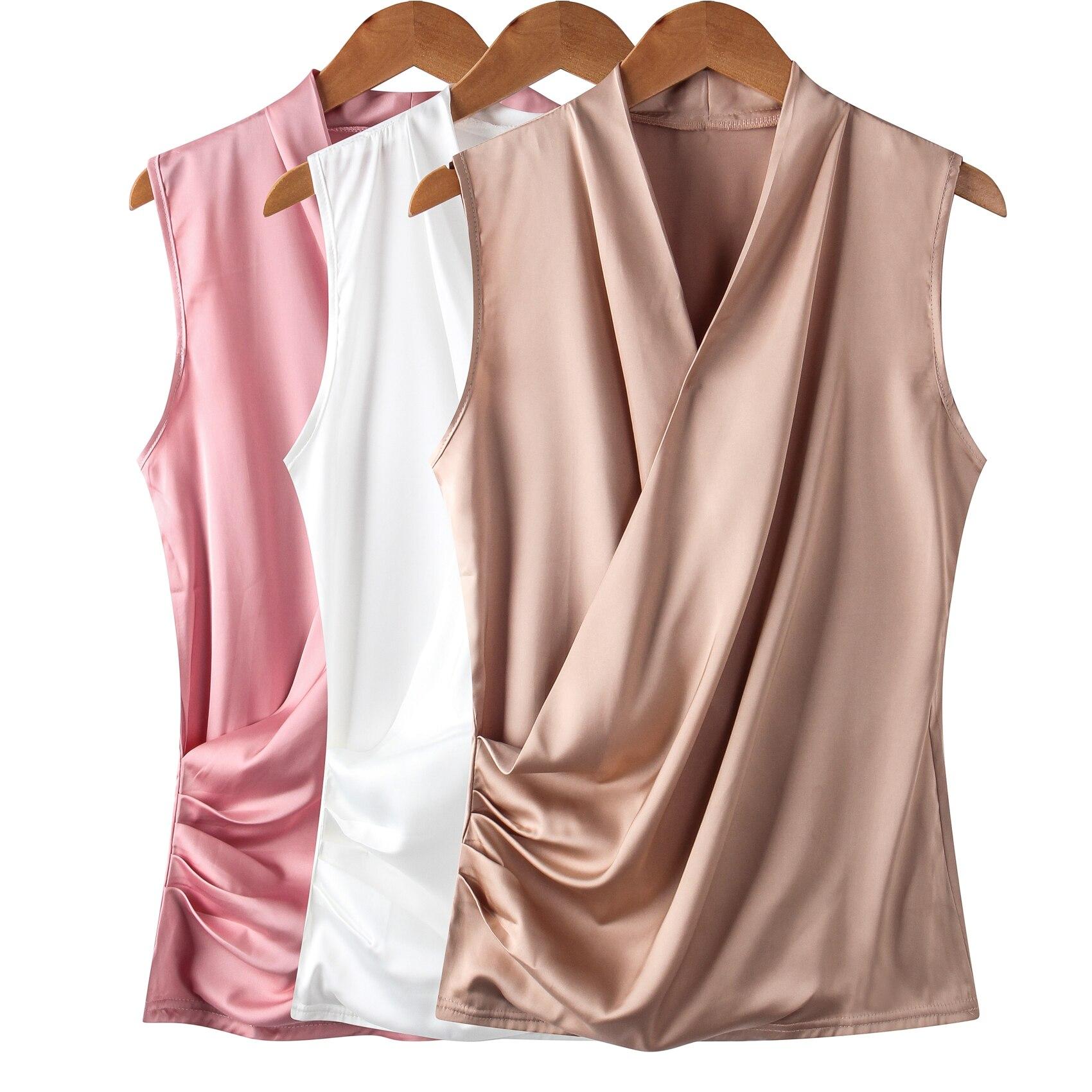Korean Fashion Silk Office Lady Womens Tops And Blouses Stand Women Blouses Plus Size 4XL Blusas Femininas Elegante Ladies Tops