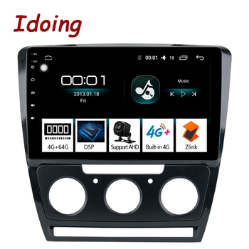 "Idoing 10.2"" 1Din 2.5D IPS 4G+64G Octa Core Car Android auto Radio Multimedia Player For Skoda Octavia 2007-2014 GPS Navigation"