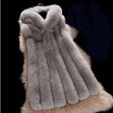 ZADORIN зимнее пальто для женщин роскошный меховой жилет из искусственного меха с капюшоном теплая куртка из искусственного меха пальто женский тонкий жилет veste femme