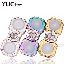 LED Hand Spinner Toys Stainless Brass Steel Metal Fidget Gyro Relieve Stress 688 Bearing 5-7min Electroplate Children Gifts Boys