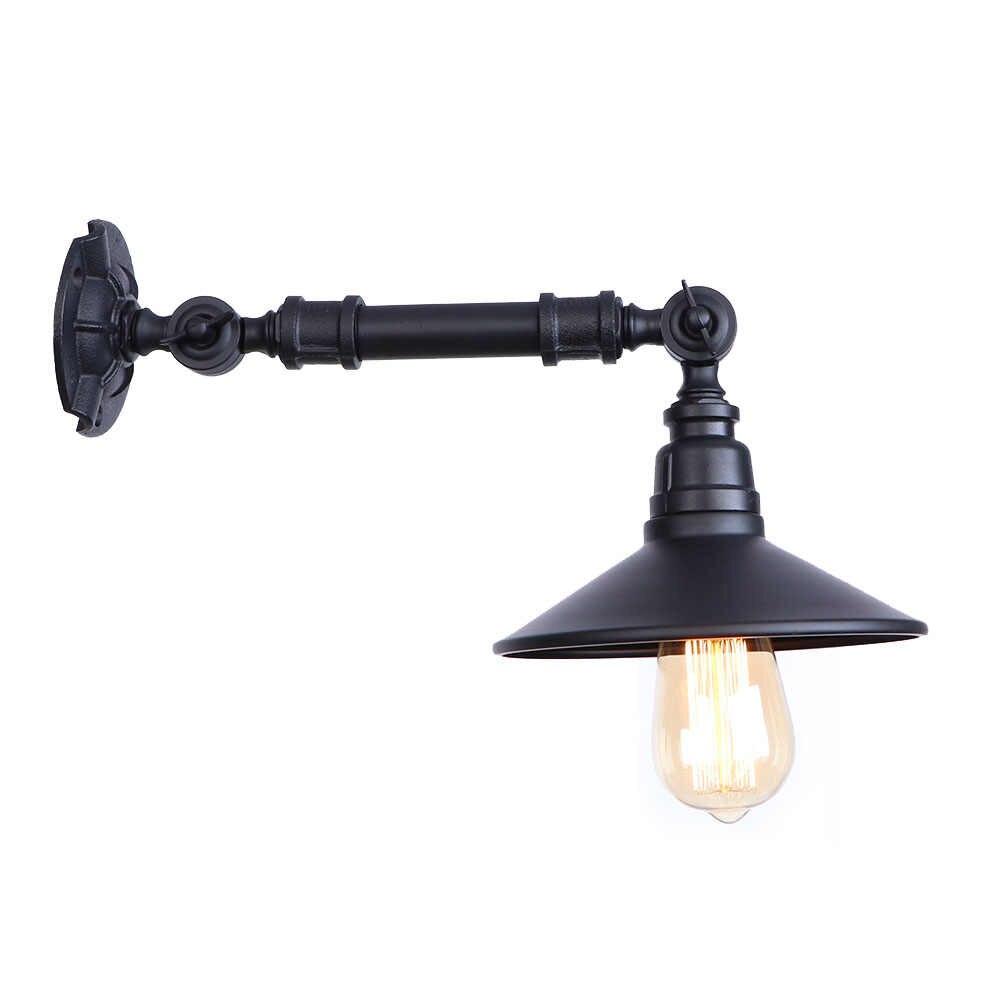 Ретро Лофт Декор светильники Эдисона бра E27 промышленная водопроводная труба настенный светильник черный железный светодиодный настенный светильник прикроватный Домашний Светильник